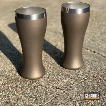 Custom Cups Cerakoted Using Burnt Bronze