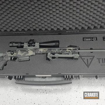 Urban Camo Tikka Rifle Cerakoted Using Armor Black, Hazel Green And Sig™ Dark Grey