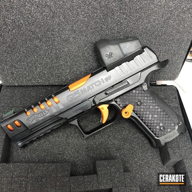 Cerakoted: TEQUILA SUNRISE H-309,S.H.O.T,9mm,Q5 Match SF,Walther,MultiCam