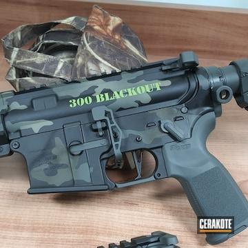 Custom Camo Ar Build Cerakoted Using Armor Black, Hazel Green And Zombie Green