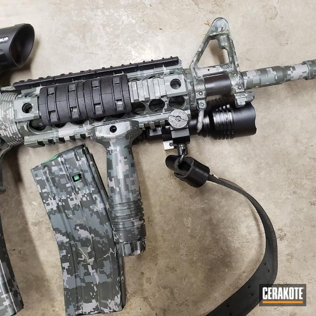 Cerakoted: S.H.O.T,Hydrographics,MATTE CERAMIC CLEAR MC-161,AR Rifle,Urban Camo