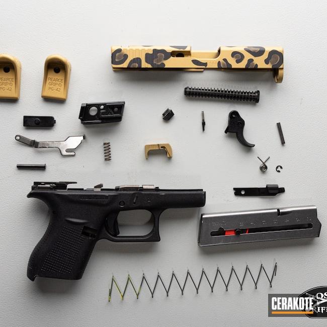 Cerakoted: S.H.O.T,Graphite Black H-146,Glock,Cheetah,Animal,Gold H-122,Glock 43