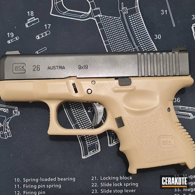 Cerakoted: S.H.O.T,Graphite Black H-146,Desert Sand H-199,Glock,Glock 26