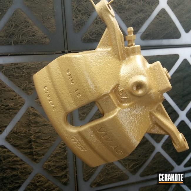 Cerakoted: Brake Calipers,Automotive,Gold H-122