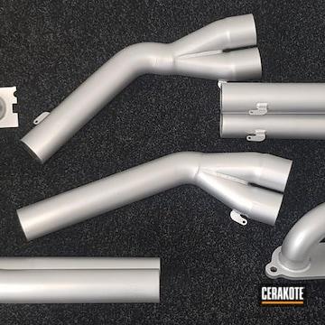 Nissan Gtr Exhaust System Cerakoted Using Cerakote Glacier Silver