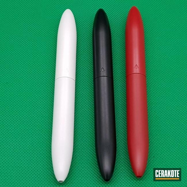 Cerakoted: Custom,Pen,Snow White H-136,Gloss Black H-109,RUBY RED H-306