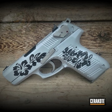 Ruger P95 Cerakoted Using Crushed Silver, Titanium And Graphite Black