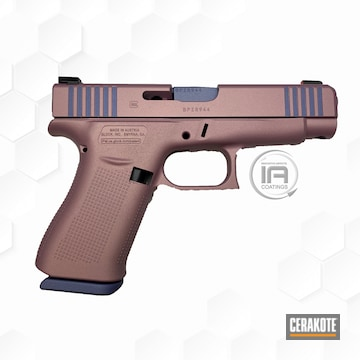 Glock Cerakoted Using Crushed Orchid And Pink Champagne