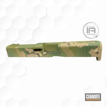 Multicam Glock Cerakoted Using Noveske Bazooka Green, Patriot Brown And Desert Sand