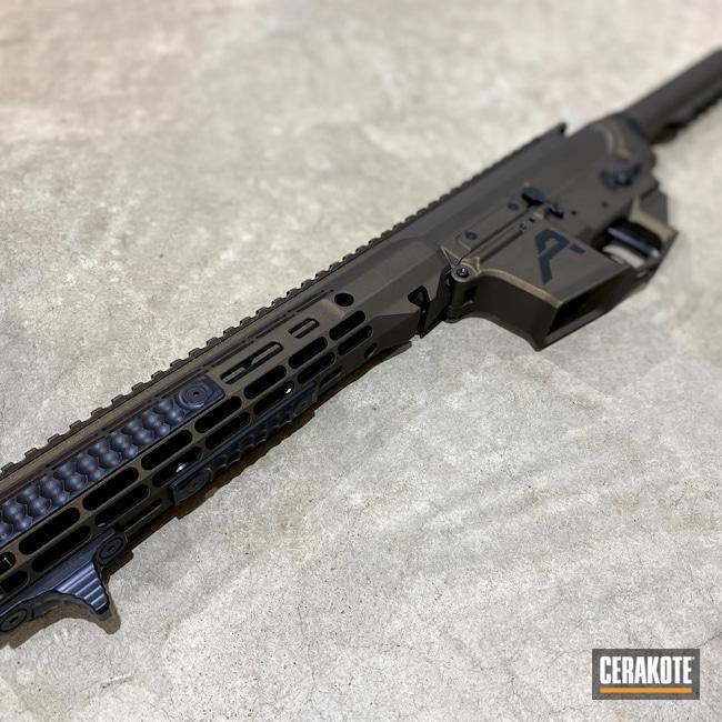 Cerakoted: S.H.O.T,Aero Precision,BLACKOUT E-100,Aero,Lower Receiver,Upper / Lower / Handguard,Firearms,Midnight Bronze H-294,9mm AR pistol,Receiver Set