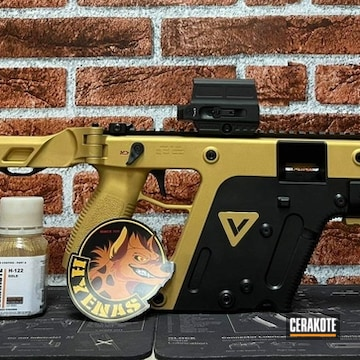 Kriss Vector Cerakoted Using Graphite Black And Gold