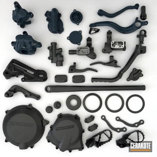 Cerakoted: Motorcycle Parts,Dirt Bike Parts,Tungsten V-167,Automotive,Dirt Bike,Blue Titanium H-185,Motorcycle
