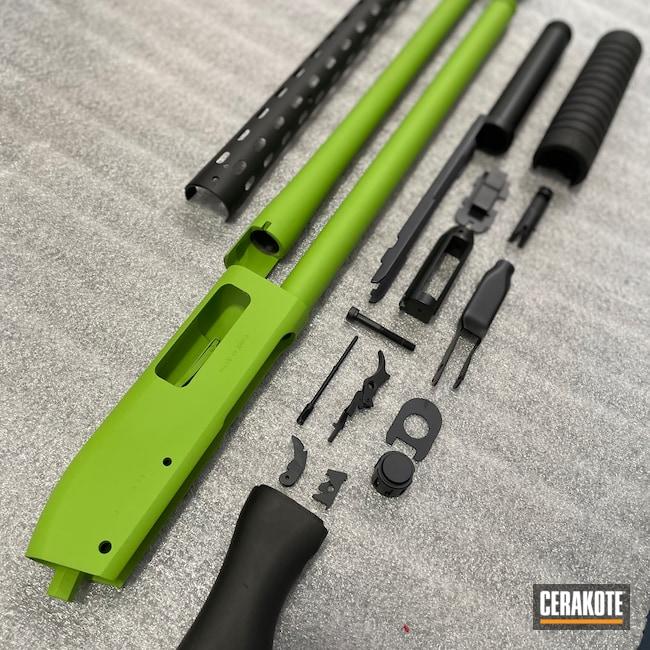 Cerakoted: S.H.O.T,Shotgun,Graphite Black H-146,Zombie Green H-168,Firearm,Norinco