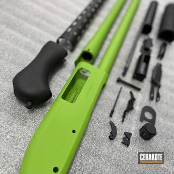 Norinco Shotgun Cerakoted Using Zombie Green And Graphite Black