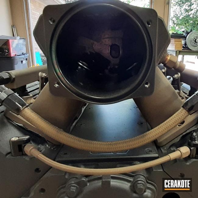 Cerakoted: LS Engine,Burnt Bronze C-148,Automotive,CERAKOTE GLACIER BLACK C-7600,VORTEX® BRONZE C-293,Auto Parts