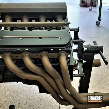 1962 Nova Engine Cerakoted Using Burnt Bronze, Cerakote Glacier Black And Vortex® Bronze