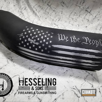 """""""we The People"""" Themed Tailpipe Cerakoted Using Graphite Black And Satin Mag"""