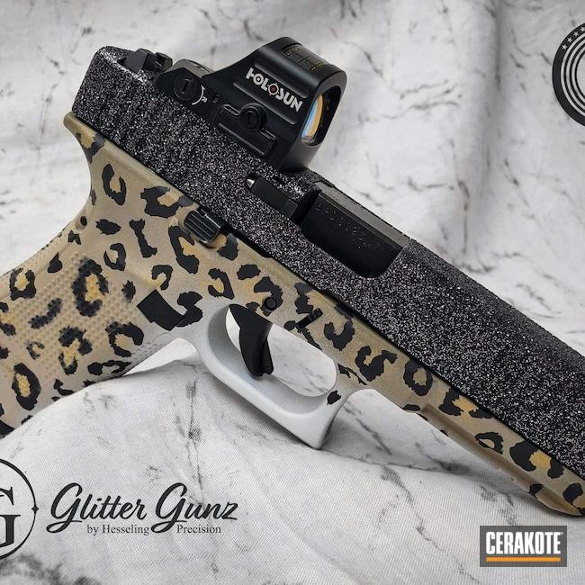 Cerakoted: S.H.O.T,Leopard Print,Glitter,Armor Black H-190,Cheetah,Animal,Animal Print,Gold H-122,Cheetah Print,Desert Sand H-199,Sparkle,Stormtrooper White H-297,Glock,G17