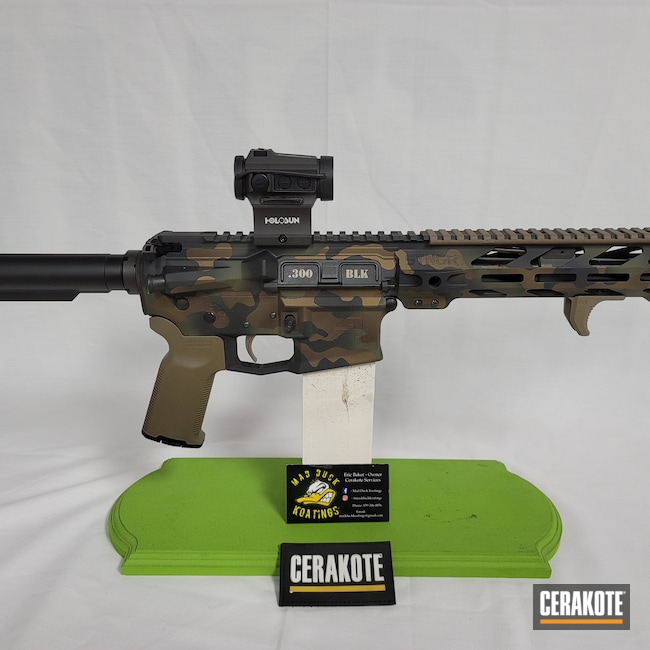 Cerakoted: S.H.O.T,Aero Precision,Graphite Black H-146,AR-15 Pistol,Burnt Bronze H-148,O.D. Green H-236,Camouflage,Midnight Bronze H-294,Custom Camo