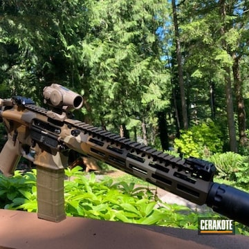Custom Camo Ar Build Cerakoted Using Noveske Tiger Eye Brown, Patriot Brown And Fs Brown Sand