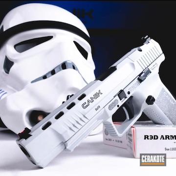 Canik Pistol Cerakoted Using Stormtrooper White