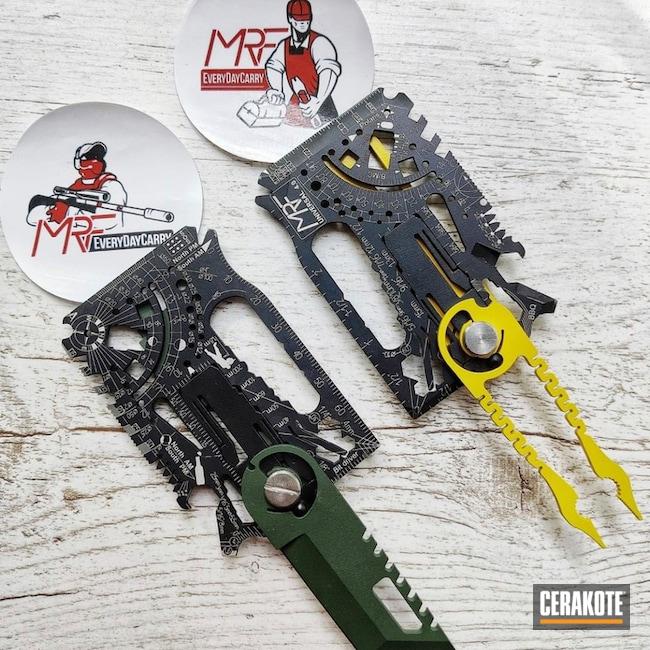 Mrf Multitool Cerakoted Using Squatch Green And Corvette Yellow