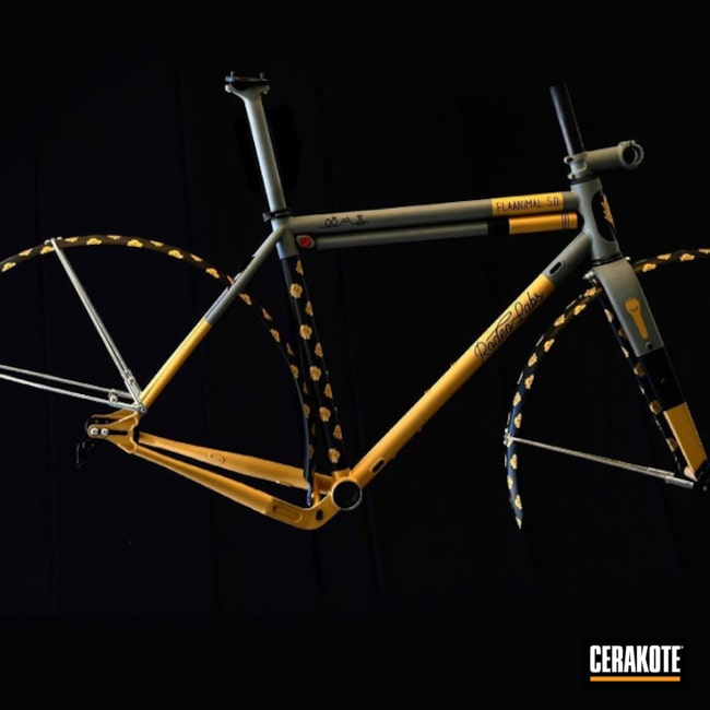 Rodeo Labs Bike Cerakoted Using Stone Grey, Graphite Black And Gold