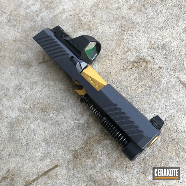 Cerakoted: S.H.O.T,9mm,Sig P320,Titanium E-250,P320,Pistol Slide,Pistol Slides