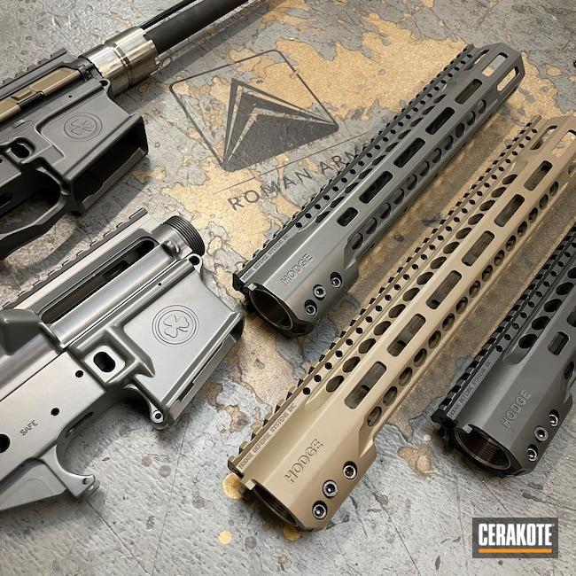 Cerakoted: S.H.O.T,Rifle,Hodge Defense,Upper / Lower,S-Lock,Upper / Lower / Handguard,FDE E-200,Smoke E-120,Concrete E-160,Hodge Deffense Systems,AR-15