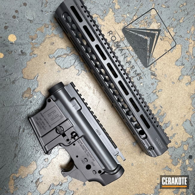 Cerakoted: S.H.O.T,Custom Mix,Upper / Lower,Hodge Defense,Titanium E-250,BLACKOUT E-100,Upper / Lower / Handguard,Hodge Deffense Systems,CARBON GREY E-240