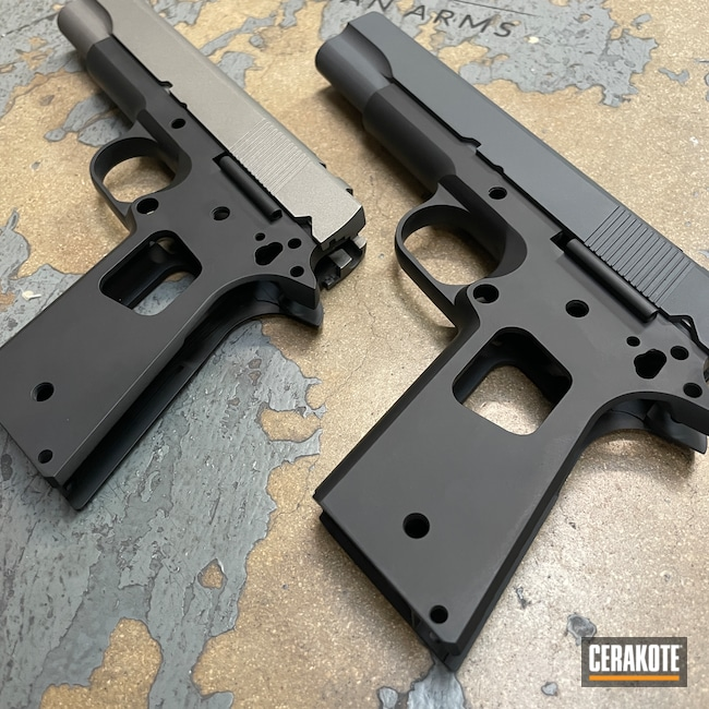 Cerakoted: S.H.O.T,Sniper Grey H-234,Graphite Black H-146,Gun Metal Grey H-219,Pistol,1911,Handguns