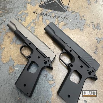 1911's Cerakoted Using Gun Metal Grey, Sniper Grey And Graphite Black