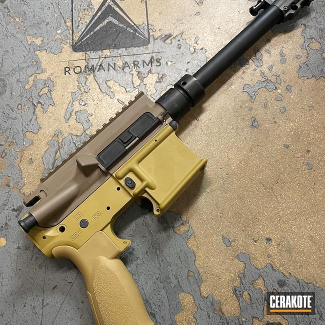 Cerakoted: S.H.O.T,Rifle,Upper / Lower,Brownells,Ral 8000 H-8000,HK Clone,Flat Dark Earth H-265,AR-15