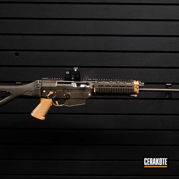 Ar Rifle Cerakoted Using Noveske Tiger Eye Brown And Magpul® O.d. Green