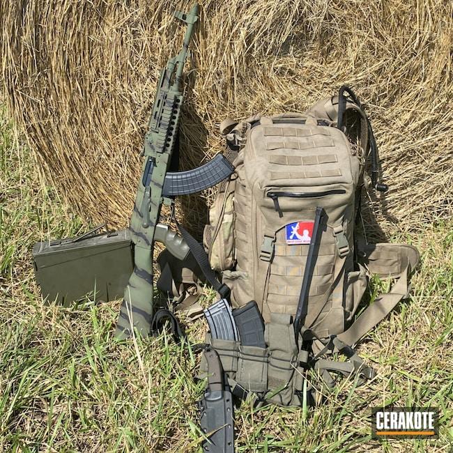 Cerakoted: S.H.O.T,Tiger Stripes,Eastern Camo,Graphite Black H-146,Patriot Brown H-226,AK-47,7.62x39,MAGPUL® O.D. GREEN H-232