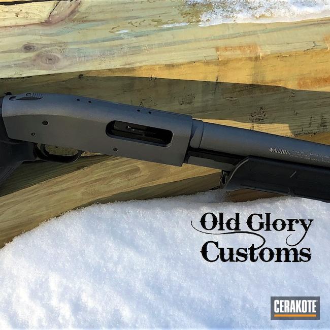Cerakoted: S.H.O.T,Shotgun,Restored,Mossberg 590,Tungsten H-237,12 Gauge,Mossberg