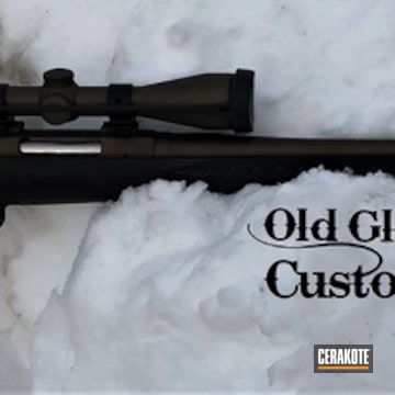 Ruger Rifle Cerakoted Using Midnight Bronze And Graphite Black
