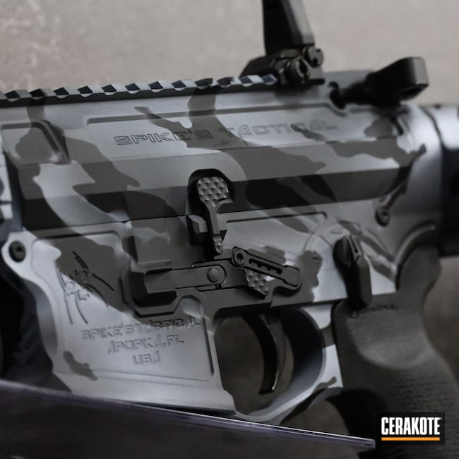 Cerakoted: S.H.O.T,Sniper Grey H-234,AR Pistol,ST-15,Graphite Black H-146,AR,Stormtrooper White H-297,.223,Spikes,5.56