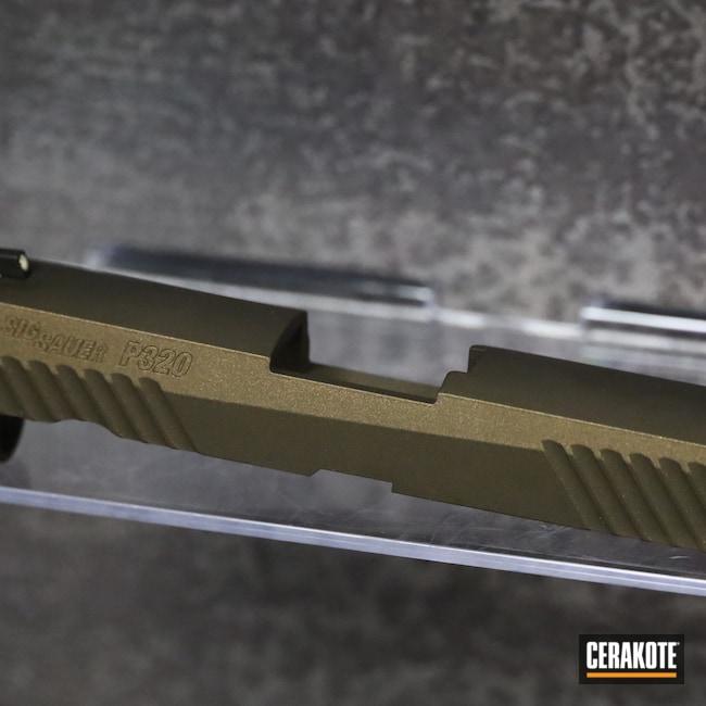 Cerakoted: S.H.O.T,9mm,P320,Sig Sauer,Sig,Midnight Bronze H-294,Handguns