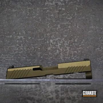 Sig Sauer P320 Slide Cerakoted Using Midnight Bronze