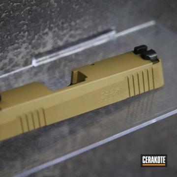 Sig Sauer P365 Pistol Slide Cerakoted Using Barrett® Brown