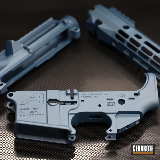 Cerakoted: S.H.O.T,Aero Precision,Lower,AR,Handguard,.223,Upper,.223 Wylde,5.56,Blue Titanium H-185