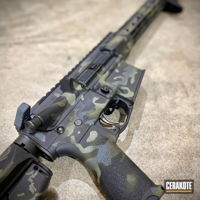 Cerakoted: S.H.O.T,Savage Arms,MULTICAM® LIGHT GREEN H-340,Armor Black H-190,O.D. Green H-236,Firearms,Custom Camo,Sniper Grey H-234,Multicam AR,MultiCam,Graphite Black H-146,Forest Green H-248,AR-15,Black Multi Cam