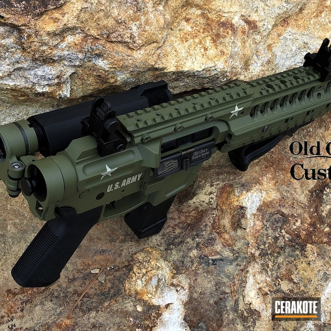 Cerakoted: S.H.O.T,Punisher,AR-45,FoxtrotMike,BENELLI® SAND H-143,Guns,Noveske Bazooka Green H-189,US Army,45 ACP