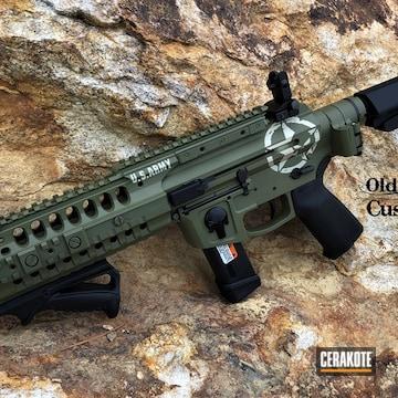 U.s Army Themed Ar Cerakoted Using Noveske Bazooka Green And Benelli® Sand