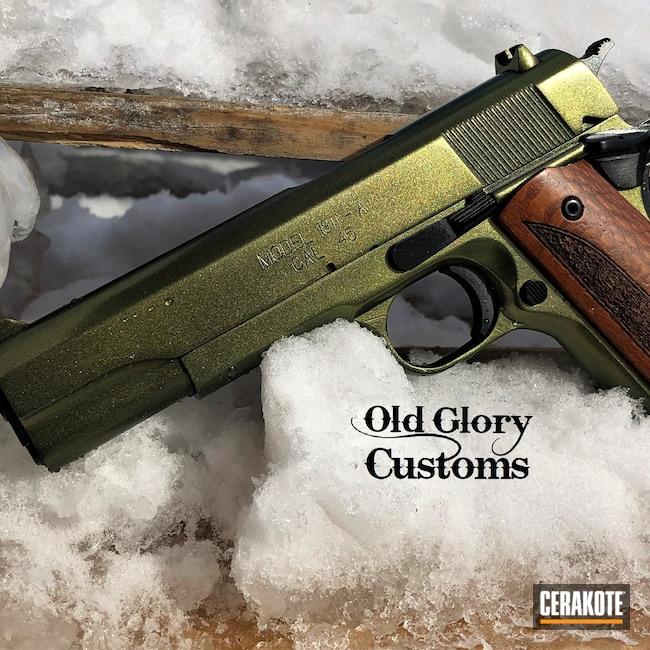 Cerakoted: S.H.O.T,Custom Mix,Gloss Black H-109,HIGH GLOSS CERAMIC CLEAR MC-160,Springfield Armory,1911,45 ACP,GunCandy