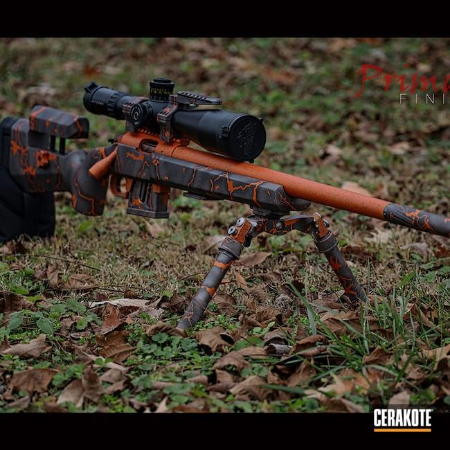 Cerakoted: TEQUILA SUNRISE H-309,S.H.O.T,Bolt Action Rifle,Zermatt,Gun Metal Grey H-219,.22LR,McMillian,Cobalt H-112