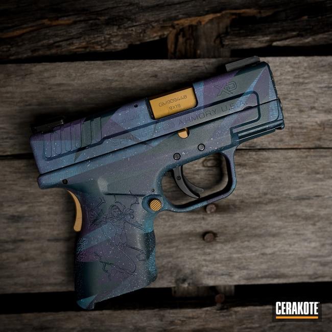 Cerakoted: S.H.O.T,Wild Purple H-197,Ridgeway Blue H-220,Tungsten H-237,Gold H-122
