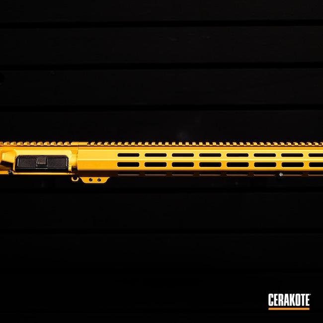 Cerakoted: S.H.O.T,Upper Receiver,AR,Handguard,AR Project,Ar Rail,AR Upper,AR Rifle,Gold H-122,AR-15