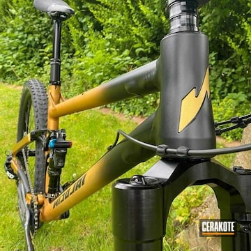 Bike Cerakoted Using Graphite Black
